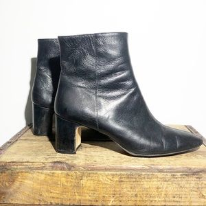 ZARA leather 6140 301 black heel boots EU 40